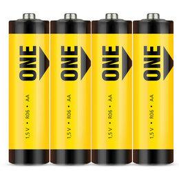 Батарейки - SMARTBUY Батарейка SMARTBUY ONE AA (R06) солевая, SB4, 0