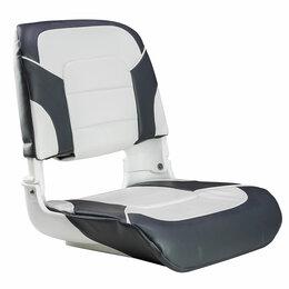 Походная мебель - Кресло мягкое складное All Weather, обивка винил, цвет угольный/белый, Marine..., 0