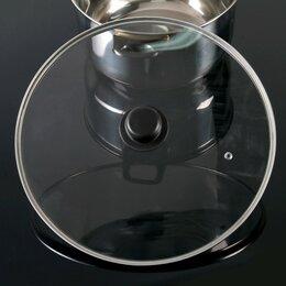 Крышки и колпаки - Крышка для сковороды и кастрюли стеклянная, d32 см, с пластиковой ручкой, 0
