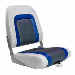 Походная мебель - Кресло мягкое складное Special, обивка винил, цвет серый/синий/угольный, Mari..., 0