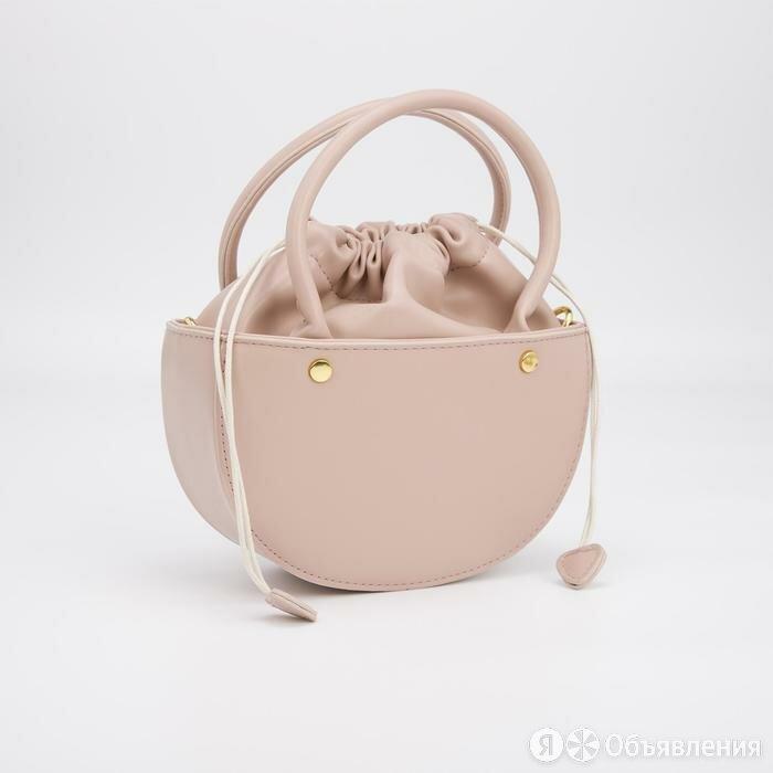 Кросс-боди, отдел на шнурке, длинный ремень, цвет розовый по цене 2471₽ - Сумки, фото 0