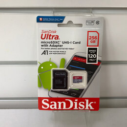 Карты памяти - Флешка SanDisk Ultra microSDXC 256 ГБ (class 10), 0