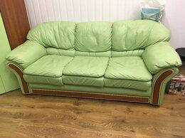 Диваны и кушетки - Комплект кожаный диван и шкаф, 0