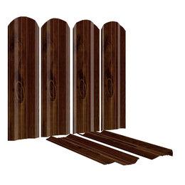 Заборы, ворота и элементы - Штакетник металлический ЭКО-М 95мм под дерево Каштан Двусторонний Printech К..., 0
