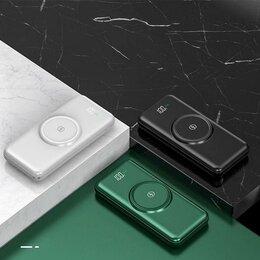 Зарядные устройства и адаптеры - Беспроводное портативное зарядное устройство, 20000 мА, 4 кабеля, белый, 0