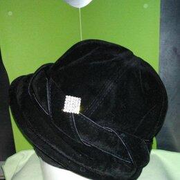 Головные уборы - Шляпка из велюра с полями, 0