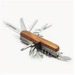 Ножи и мультитулы - PF-MT-12 Мультитул «СЛЕДОПЫТ», 11 предметов, деревянная ручка /240/, 0