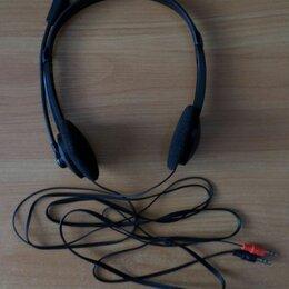 Компьютерные гарнитуры - Проводные наушники с микрофоном 3,5 мм, 0