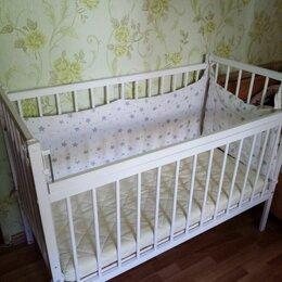 Кроватки - Детская кроватка с продольным маятником, 0