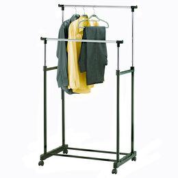 Вешалки напольные - Напольная вешалка для одежды (2 штанги), 0