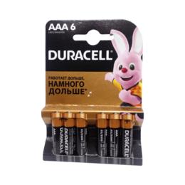 Аксессуары и запчасти для оргтехники - Батарейка DURACELL LR03-6BL BASIC 6 шт. в уп-ке, 0