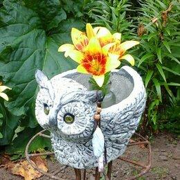 Садовые фигуры и цветочницы - 5130196 кашпо совушка, 0