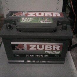 Аккумуляторы и комплектующие - Акб Зубр Премиум 80Ah 780A, 0