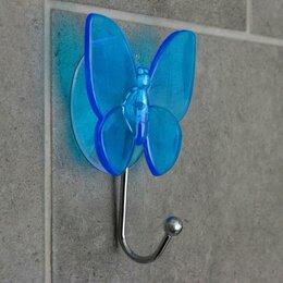 Информационные табло - Крючок на вакуумной присоске «Бабочка», цвет МИКС, 0