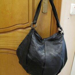 Сумки - Женская сумка - мешок кожаная черная., 0
