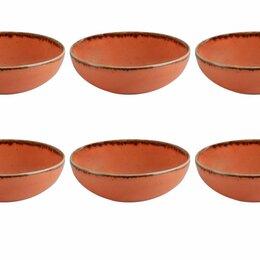 Аксессуары - Porland Набор соусников Сизонс 9 см (6 предметов), оранжевый, 95 мл, 0