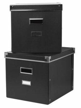 Корзины, коробки и контейнеры - Новый набор из 2-х коробок с крышкой IKEA 33*38*30, 0