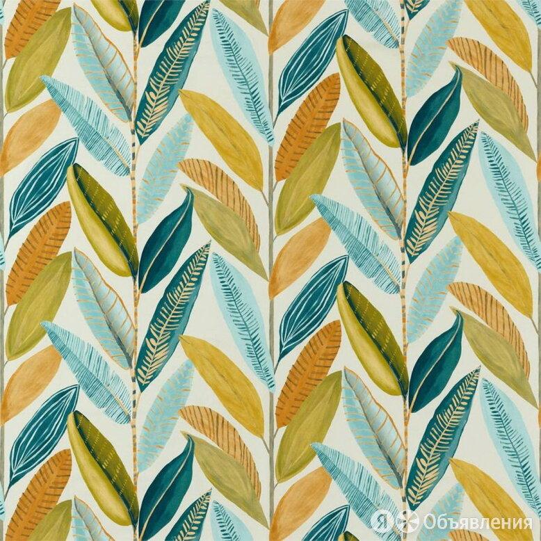 Обои тканевые Scion Esala fb (1,38х1,00) листья,зеленые, голубые 120893 (пог.м.) по цене 4771₽ - Обои, фото 0