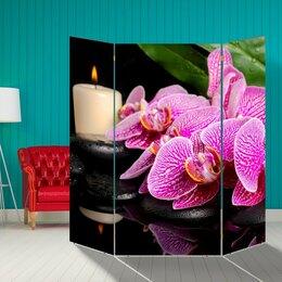 """Ширмы - Ширма """"Орхидея со свечой"""", 160 × 160 см, 0"""