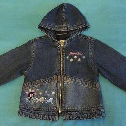 Куртки и пуховики - Джинсовая куртка с капюшоном для девочки, 0