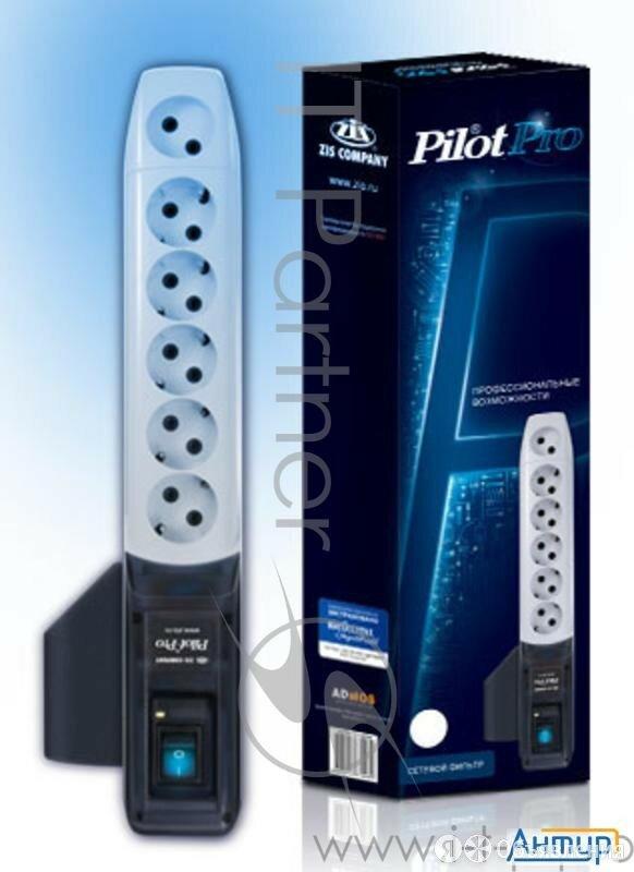 Сетевой фильтр Pilot Pro 7м (6 розеток) серый (коробка) по цене 1790₽ - Источники бесперебойного питания, сетевые фильтры, фото 0