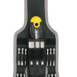 Дрели и строительные миксеры - Трещотка поворотная Ergonic K с набором бит в чехле 16 предметов Felo 06..., 0