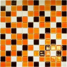 Мозаика - Мозаика стеклянная ПВХ-сетка 32,7х32,7 Elada рыже-кор.СВ 806 (1,07)уп, 0