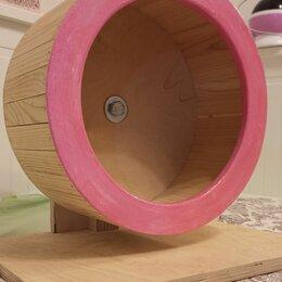 Игрушки и декор  - Колесо, диаметр 30см, деревянное, для грызунов, крыс, шиншилл, дегу, 0