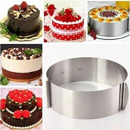 Посуда для выпечки и запекания - Раздвижное кольцо для торта (форма для выпечки) , 0