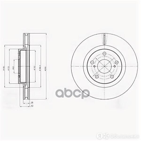 Диск Тормозной Toyota Camry (V40) 06-11/Rav 4 05- Передний Вент.D 296мм. Delp... по цене 2381₽ - Тормозная система , фото 0