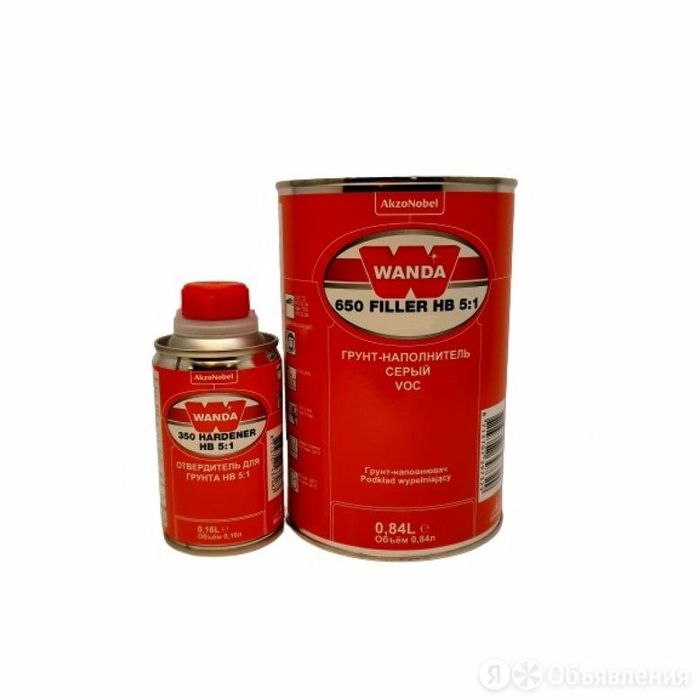 Грунт-наполнитель Wanda VOC 650 FIL HB 5:1 BLACK по цене 1190₽ - Промышленная химия и полимерные материалы, фото 0