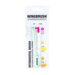 Электрические зубные щетки - Интердентальная зубная щётка с тремя сменными насадками-ёршиками WingBrush, 0