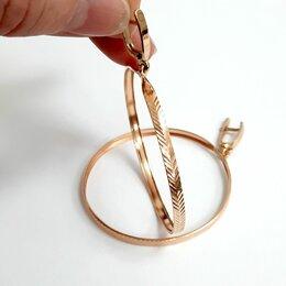 Серьги - Золотые серьги кольца, 0