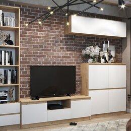 Шкафы, стенки, гарнитуры - Стенка Марли 3 дуб бунратти/белый глянец, 0