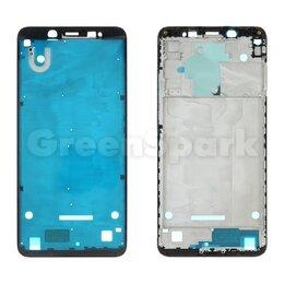 Корпусные детали - Рамка дисплея для Xiaomi Redmi Note 5 (черный), 0