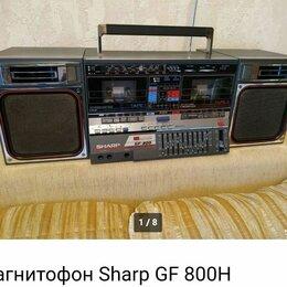 Музыкальные центры,  магнитофоны, магнитолы - Двухкассетный магнитофон Sharp, 0