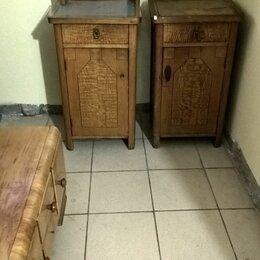 Тумбы - буфет и Тумба патефонная антикварная  дуб и карельская береза, 0