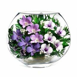 Цветы, букеты, композиции - Композиция из орхидей 22,5*25 см., 0