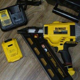 Гвоздескобозабивные пистолеты и степлеры - гвоздезабивной аккумуляторный  пистолет DeWalt б/у, 0