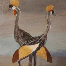 Картины, постеры, гобелены, панно - Картина акрилом Птицы 20 на 23 см, 0