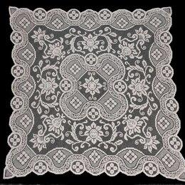 Скатерти и салфетки - Скатерть чайная, филейное кружево, ажурная, 94х94, 0
