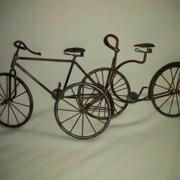 Статуэтки и фигурки - Статуэтка – велосипед металлический (винтаж), 0
