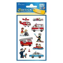 Расходные материалы для брошюровщиков - Детские стикеры Пожарные 76 x 120 мм {54137}, 0