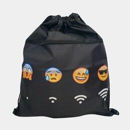Рюкзаки, ранцы, сумки - Мешок для сменки со смайликами, 0
