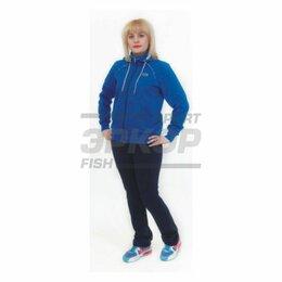 Спортивные костюмы - Костюм спортивный Marko А жен капюшон трикотаж хлопок сине-чёрн (х1), 0