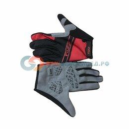 Прочие аксессуары и запчасти - Велоперчатки FUZZ RACE LIGHT, длинные пальцы, черно-красный  (Размер: M), 0