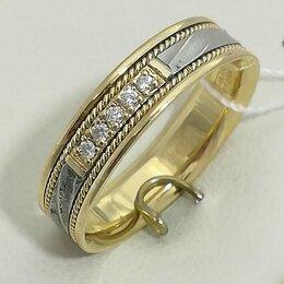 Кольца и перстни - кольцо / размер 18 / 3,95г / золото 585 / бриллианты, 0