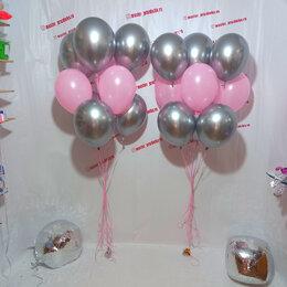 Воздушные шары - Воздушные шары серебро и розовый, 0