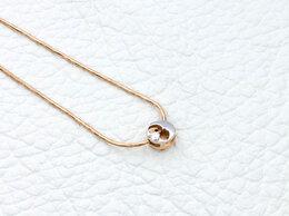 Колье - Колье с бриллиантом из комбинированного золота, 0