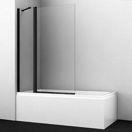 Шторы - Штора для ванны  WasserCRAFT BERKEL 48P02-110 BLACK Fixed  9062477, 0